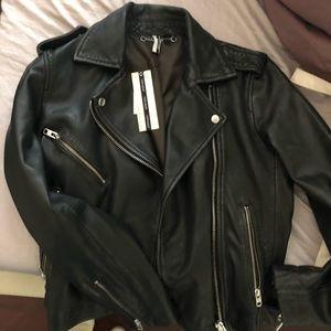 TOPSHOP Strike Leather Jacket